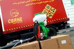 ۱۰ دستگاه گندزدای موتوری به آتش نشانی رشت اهدا شد