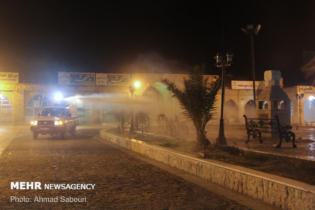 Public places in Semnan disinfected due to coronavirus