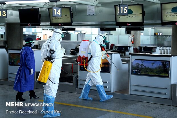 استفاده از ماسک در فرودگاه شیراز اجباری شد