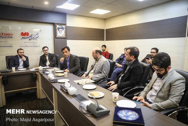 مراسم تقديم رئيس قسم الاخبار الخارجية لوكالة مهر للأنباء وتوديع الرئيس السابق