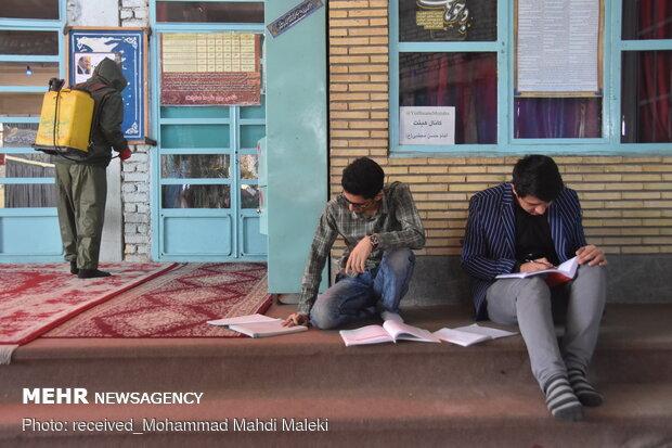 Disinfecting public places of Shahreza, Isfahan prov.