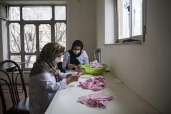 کارگاه مردمی تولید ماسک در سنندج