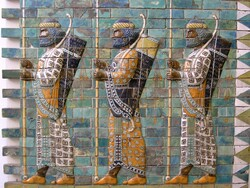 This image, depicting military men, is from a frieze originally located at a royal palace in Susa, southwest Iran, (one of the Achaemenid Empire's four capital cities).  It is now maintained at the Pergamon Museum in Berlin. Scholars believe the frieze depicts members of Xerxes' personal bodyguard (called the Immortals). )Photo Credit: Mohammed Shamma/Flickr(