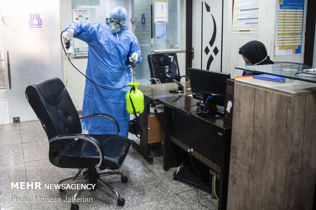 جهادگران خط مقدم مبارزه با کرونا در اهواز