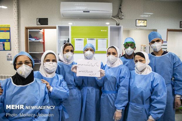 """مجاهدو الخط الامامي في الحرب مع وباء """"كورونا"""" في الاهواز / صور"""