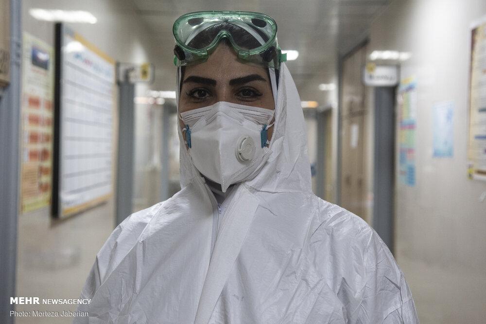 """مجاهدي الخط الامامي في الحرب مع وباء """"كورونا"""" في الاهواز"""