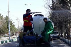 عملیات ضد عفونی و گندزدایی شهر اصلاندوز انجام شد