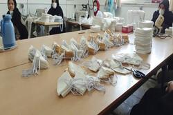 تولید ۴ هزار ماسک در دو هنرستان شهرستان الیگودرز