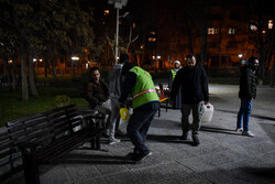 Mobilization of people for disinfecting public places in Tehran