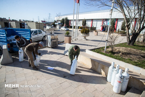 استقرار و راهاندازی بیمارستان موقت در قزوین