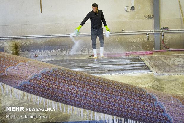 Carpet cleaning workshops on eve of Nowruz