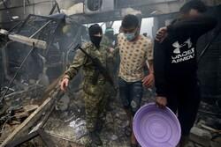 آتش سوزی در اردوگاه پناهجویان در نوار غزه/۱۰ تن کشته شدند