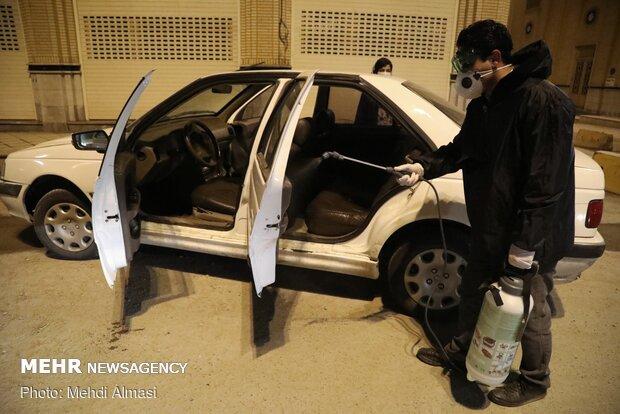 عملیات سرکوب کرونا  در زنجان