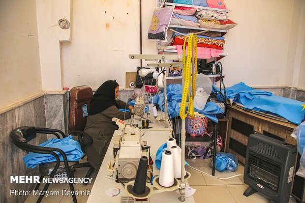 Workshop for producing overalls, special of nurses and doctors, in Bojnourd