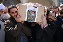 تہران میں آيت اللہ محسن حبیبی کی تشییع جنازہ