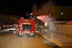 ضدعفونی گسترده معابر مختلف شهری یاسوج از ساعت ۱۷ شنبه