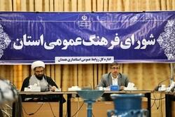 شورای فرهنگ عمومی ناظر بر فعالیتهای فرهنگی در استان همدان باشد