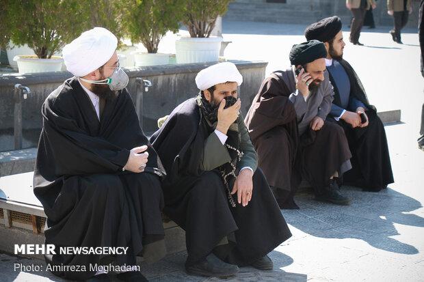 تشییع پیکر آیتالله محسن حبیبی تولیت مدرسه علمیه مجتهدی تهرانی(ره)