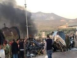 شام میں تیز رفتار آئل ٹینکر نے بے قابو ہوکر 32 افراد کو کچل دیا