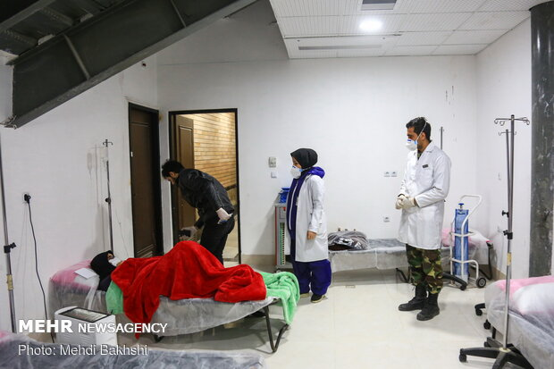 Army's mobile hospital in Qom