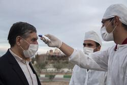 Simnan eyaletinin girişinde koronavirüs önlemi