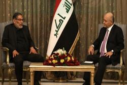 شمخاني وصالح يؤكدان على ضرورة تعاون بلديهما لإجتثاث الارهاب