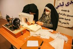 تولید ماسک توسط خواهران جهادگر خراسان شمالی
