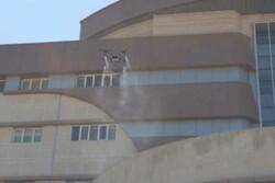 Yasuc kentinin hastanesi İHA ile dezenfekte edildi