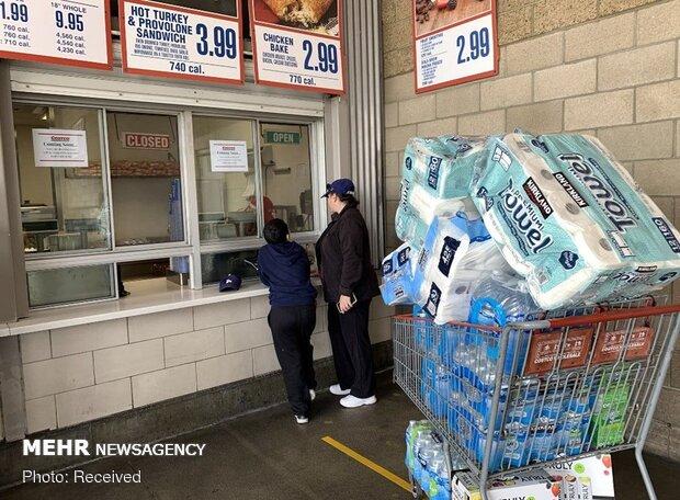 ABD'de koronavirüs paniği: Market rafları boşaldı