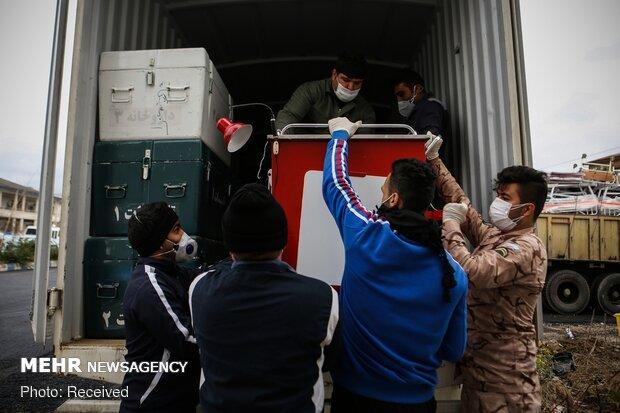 IRGC Navy establishes portable hospital in Gilan