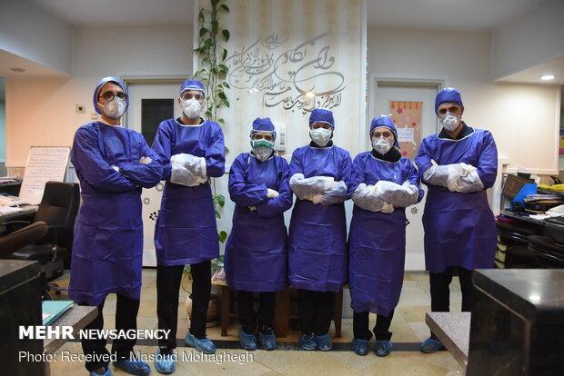 Special ward of coronavirus patients in Semnan's Kosar hospital
