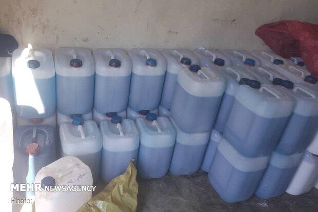 ۷۵۰۰ لیتر الکل احتکار شده در استان بوشهر کشف شد