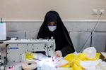 تولید روزانه ۱۵۰۰ عدد  ماسک در منطقه ۹