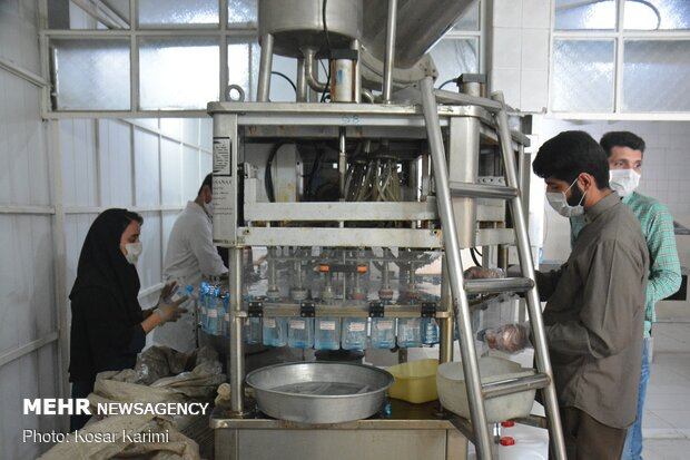 Production of medical alcohol in Ahvaz