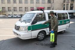 نیروی انتظامی فردیس برای کاهش شیوع کرونا تلاش میکند