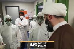 حجۃ الاسلام قمی کا قم کے فرقانی اسپتال کا دورہ