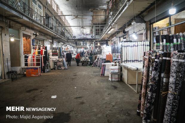 شیوع کرونا موجب خلوتی بازار تهران شد