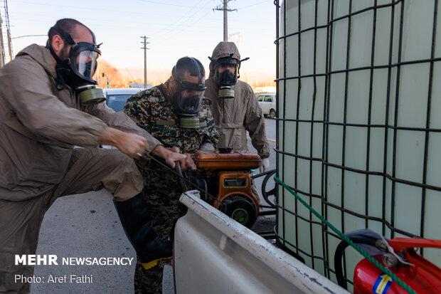 Kerec'de sokaklar dezenfekte edildi