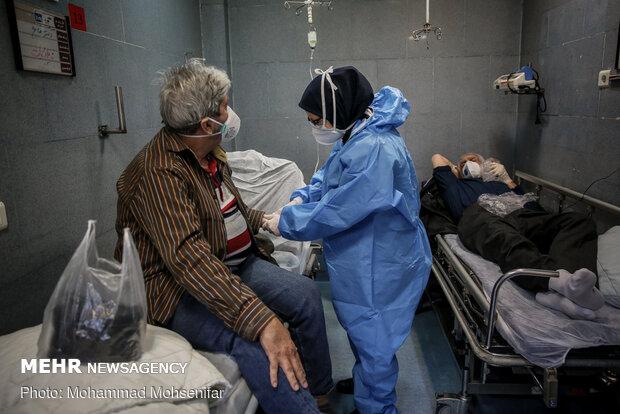 Special 'coronavirus' ward in Baghiyyatollah al-Azam Hospital in Tehran