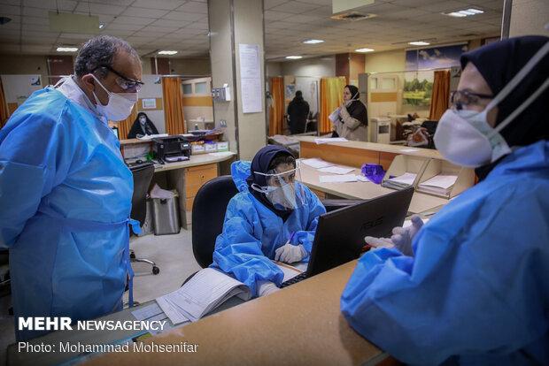 بخش ویژه کرونا در بیمارستان بقیة الله