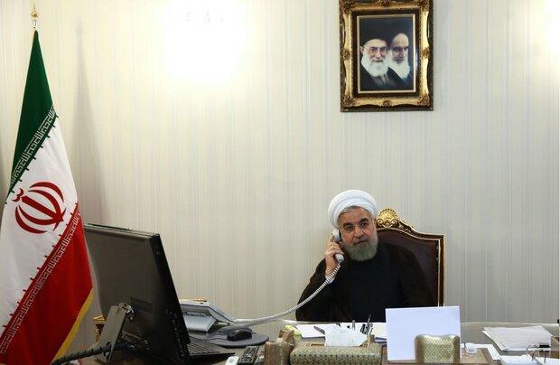 الرئيس روحاني يعلن استعداد طهران تبادل تجاربها مع سلطنة عمان بشأن احتواء كورونا