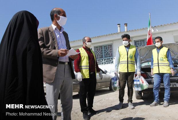 توزیع اقلام و آموزش نکات بهداشتی در مناطق کم برخوردار گلستان