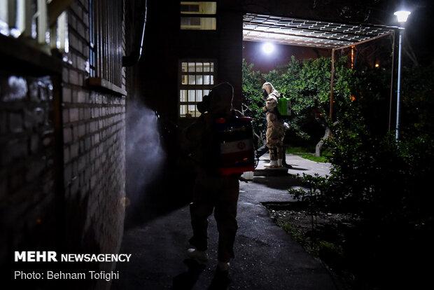 İran'da dezenfekte çalışmaları devam ediyor