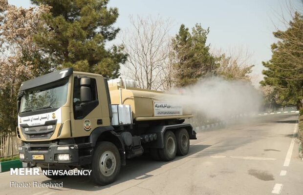 İran yerli yapım dezenfekte otomobilini tanıttı