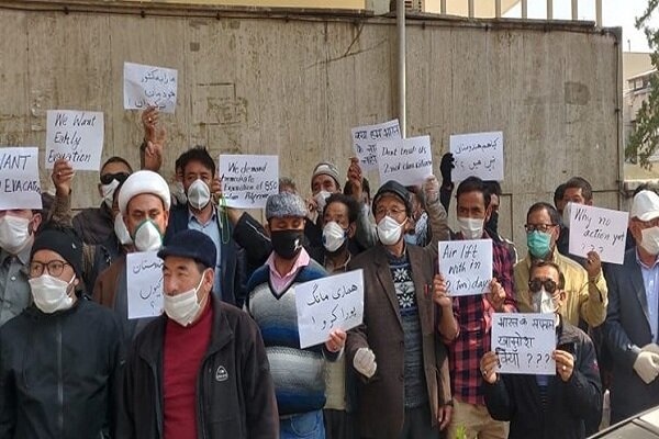 Video: Indians hold protest in front of country's embassy in Tehran