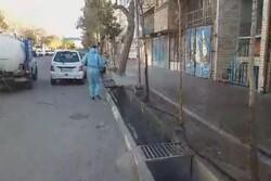 İran'da koronavirüse karşı dezenfekte çalışmaları sürüyor