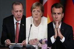 اردوغان، ماکرون و مرکل گفتگو میکنند