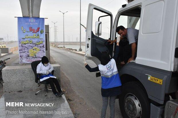 کنترل ورودی های آبادان توسط سپاه و نیروی انتظامی