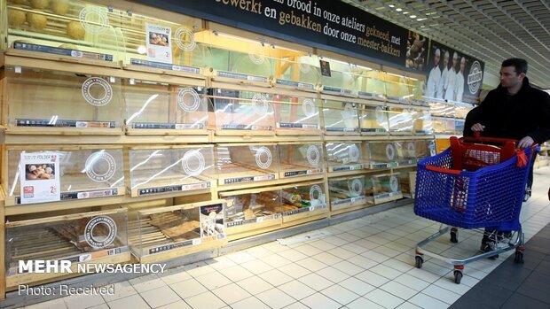 Belçika'da koronavirüs alarmı: marketler boşaldı