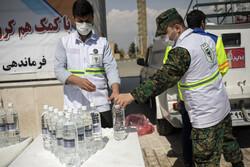 تشریح خدمات یگان ویژه برای مقابله با کرونا/ خودروهای آبپاش بیش از ۶ هزار کیلومتر را ضدعفونی کردند